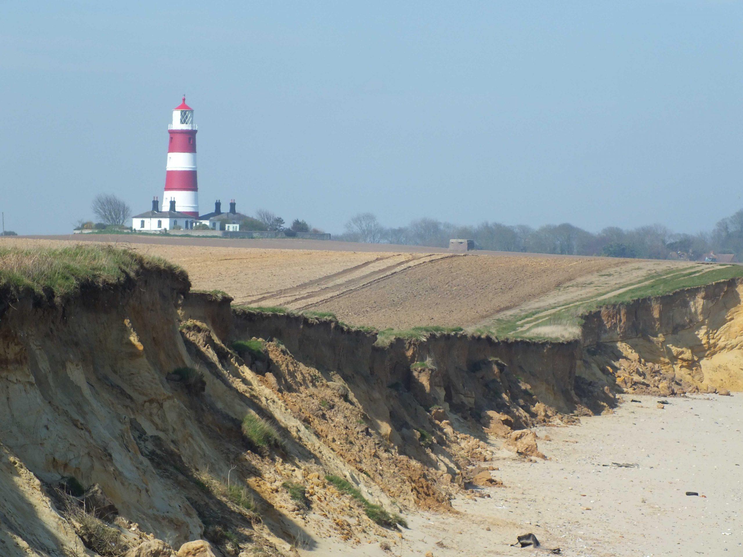 Happisburgh lighthouse - living on the edge